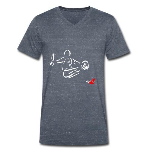 GINNASTA AGLI ANELLI - T-shirt ecologica da uomo con scollo a V di Stanley & Stella
