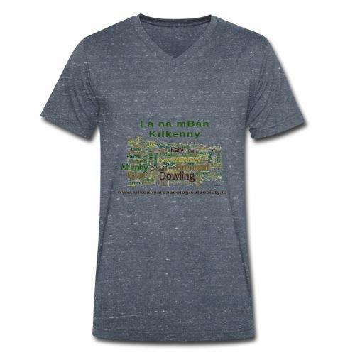 Lá na mban Kilkenny Wordle - Men's Organic V-Neck T-Shirt by Stanley & Stella