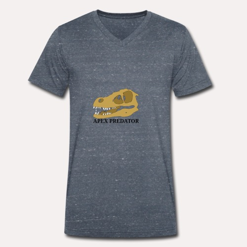 Apex Predator velociraptor design - Men's Organic V-Neck T-Shirt by Stanley & Stella
