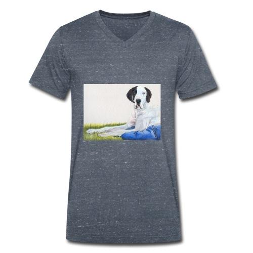 Grand danios harlequin - Økologisk Stanley & Stella T-shirt med V-udskæring til herrer