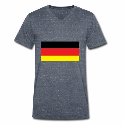 Deutschland Weltmeisterschaft Fußball - Männer Bio-T-Shirt mit V-Ausschnitt von Stanley & Stella