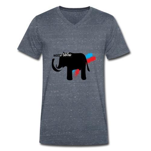 Macca Liotru - T-shirt ecologica da uomo con scollo a V di Stanley & Stella