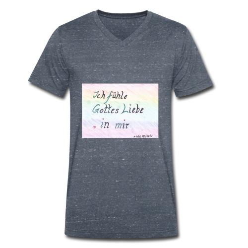 Liebe fühlen - Männer Bio-T-Shirt mit V-Ausschnitt von Stanley & Stella