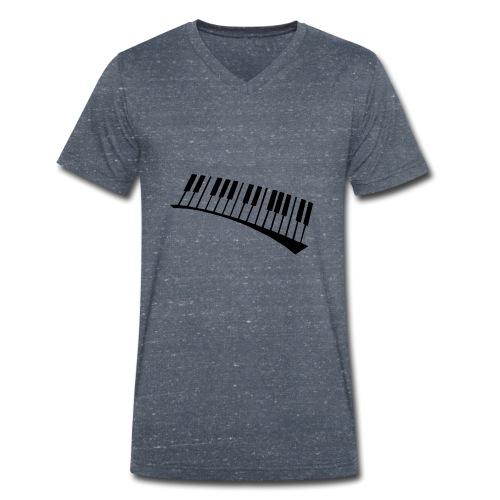 Piano - Camiseta ecológica hombre con cuello de pico de Stanley & Stella