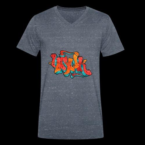 Hawk Print - Männer Bio-T-Shirt mit V-Ausschnitt von Stanley & Stella