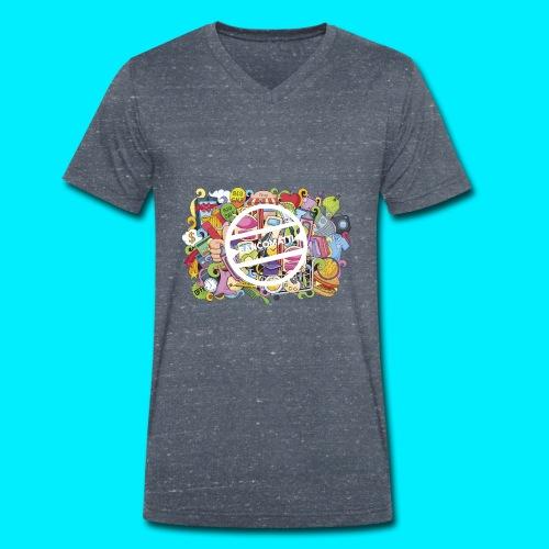 maglia logo doodle - T-shirt ecologica da uomo con scollo a V di Stanley & Stella