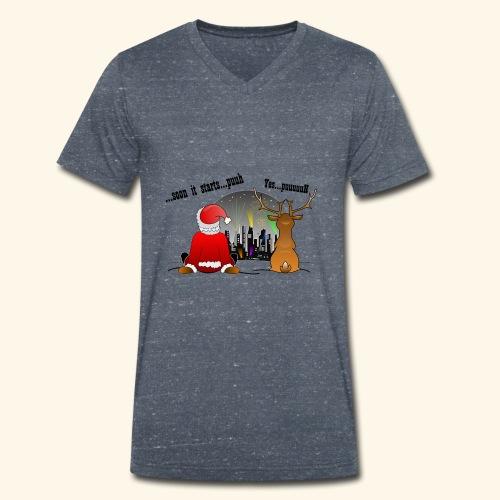 soon it starts - Männer Bio-T-Shirt mit V-Ausschnitt von Stanley & Stella