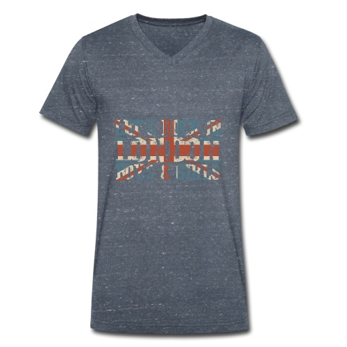 LET'S ROCK IN LONDON - T-shirt ecologica da uomo con scollo a V di Stanley & Stella