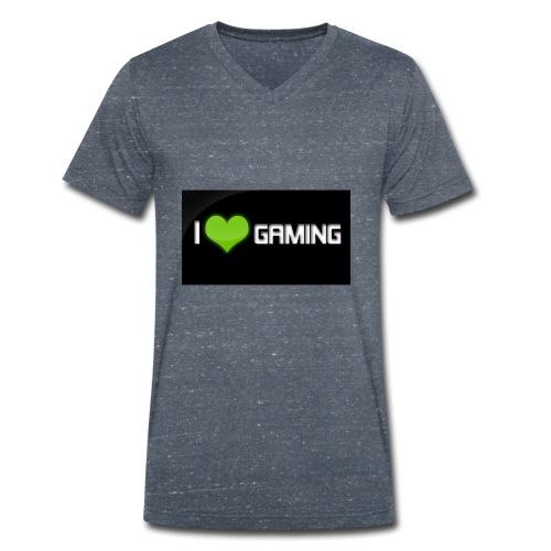 I Love Gaming Shadow Gamer - Männer Bio-T-Shirt mit V-Ausschnitt von Stanley & Stella