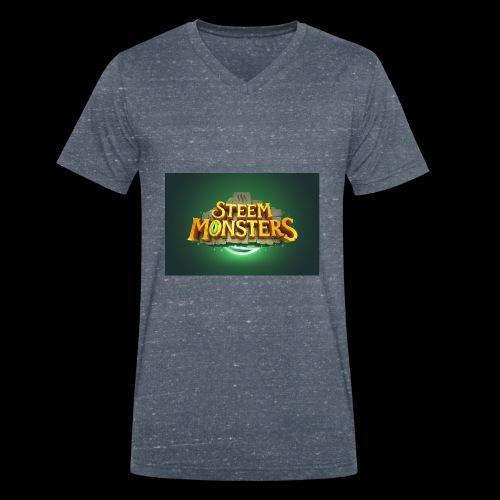 steem monsters - Männer Bio-T-Shirt mit V-Ausschnitt von Stanley & Stella