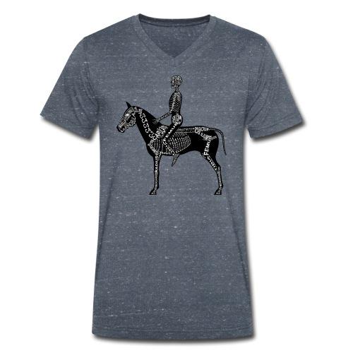 Reiter-Skelett - Økologisk T-skjorte med V-hals for menn fra Stanley & Stella
