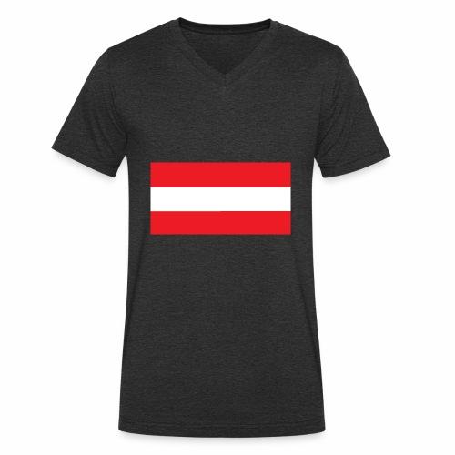Oesterreich Weltmeisterschaft Fußball - Männer Bio-T-Shirt mit V-Ausschnitt von Stanley & Stella