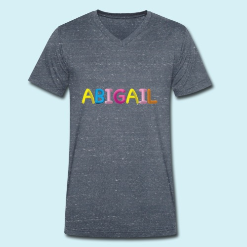 Fluffy Abigail Letter Name - Men's Organic V-Neck T-Shirt by Stanley & Stella