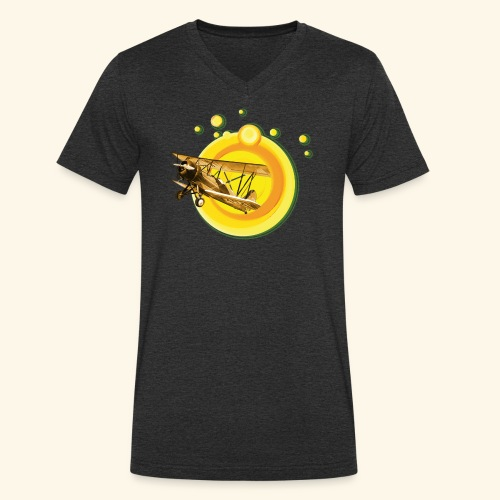 AVIÓN ANTIGUO - Camiseta ecológica hombre con cuello de pico de Stanley & Stella