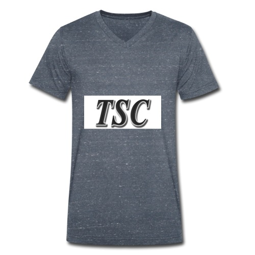 TSC Black Text - Men's Organic V-Neck T-Shirt by Stanley & Stella