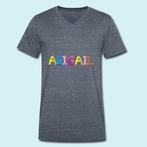 Fluffy Abigail Letter Name - Men's Organic V-Neck T-Shirt by Stanley & Stella