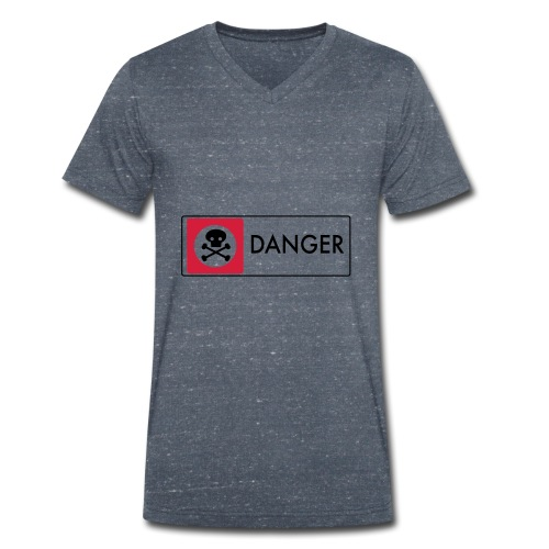 Danger - Men's Organic V-Neck T-Shirt by Stanley & Stella