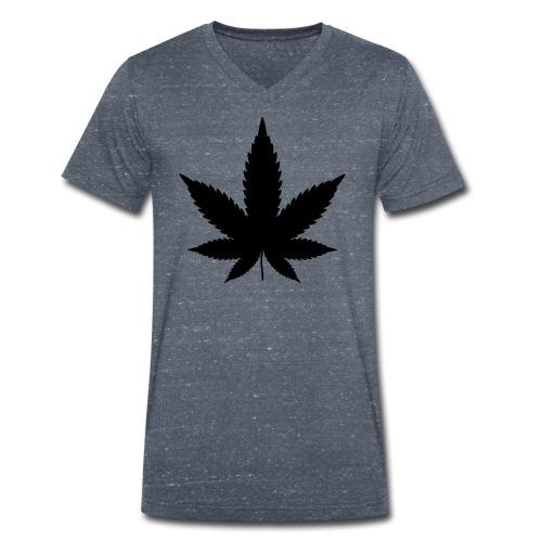 CannabisBlack - Männer Bio-T-Shirt mit V-Ausschnitt von Stanley & Stella
