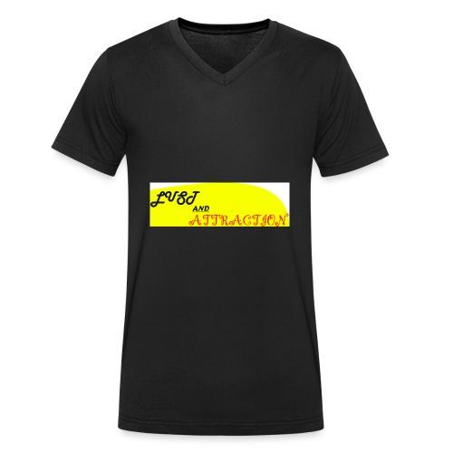 lust ans attraction - Men's Organic V-Neck T-Shirt by Stanley & Stella