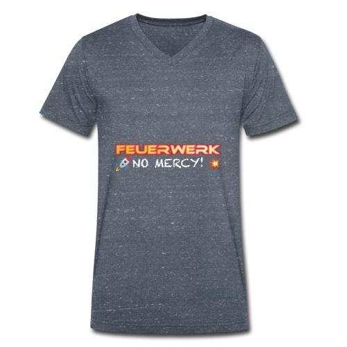 Feuerwerk Design 108 NO MERCY - Männer Bio-T-Shirt mit V-Ausschnitt von Stanley & Stella