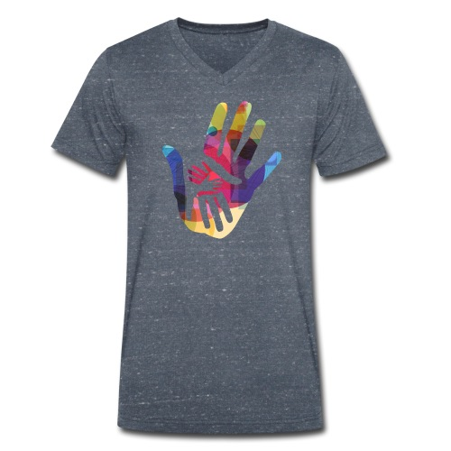 logo_storien - Økologisk T-skjorte med V-hals for menn fra Stanley & Stella