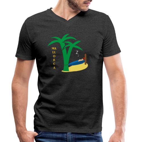 Mallorca - Urlaub unter Palmen - Männer Bio-T-Shirt mit V-Ausschnitt von Stanley & Stella