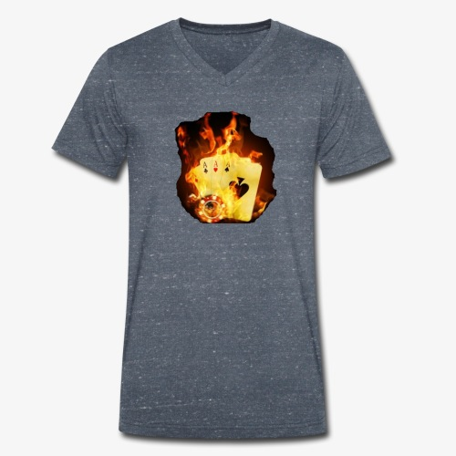Flamme THE TEXAS HOLDEM - Männer Bio-T-Shirt mit V-Ausschnitt von Stanley & Stella