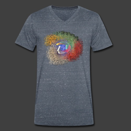 Brainwashing 3D - Men's Organic V-Neck T-Shirt by Stanley & Stella