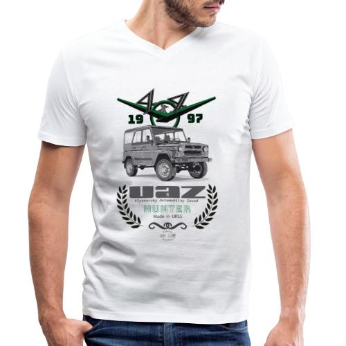 UAZ Hunter 1997 - Camiseta ecológica hombre con cuello de pico de Stanley & Stella