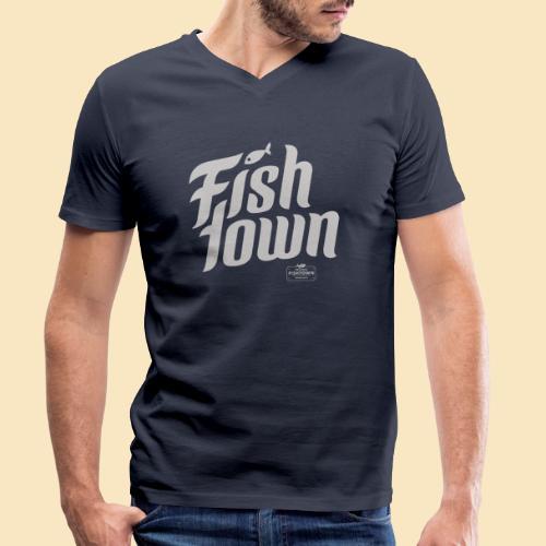 Fishtown Swoosh gray - Männer Bio-T-Shirt mit V-Ausschnitt von Stanley & Stella