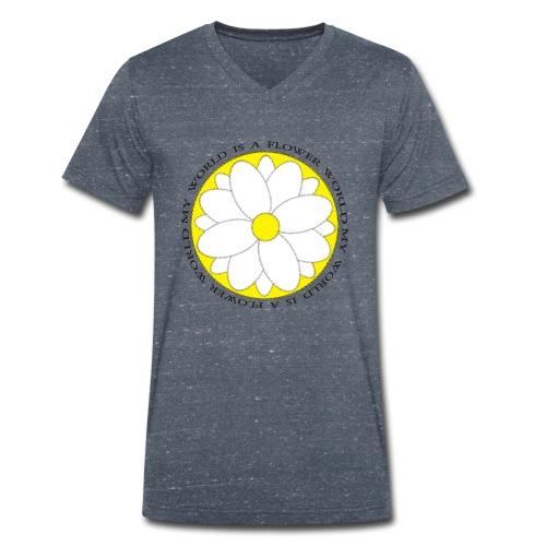 Flower World - Männer Bio-T-Shirt mit V-Ausschnitt von Stanley & Stella
