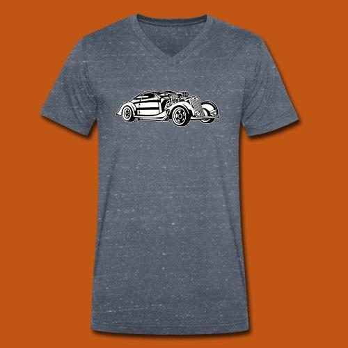 Hot Rod / Rad Rod 05_schwarz weiß - Männer Bio-T-Shirt mit V-Ausschnitt von Stanley & Stella