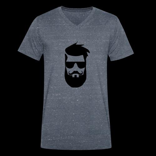 chadmanendez Face - Men's Organic V-Neck T-Shirt by Stanley & Stella