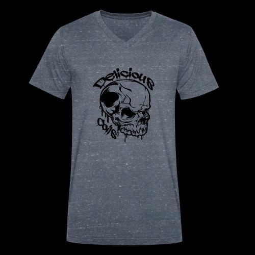 Logo Mode Schwarz - Männer Bio-T-Shirt mit V-Ausschnitt von Stanley & Stella