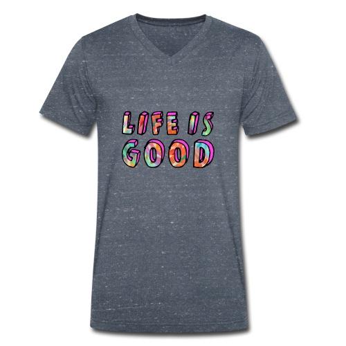 LifeIsGood - Men's Organic V-Neck T-Shirt by Stanley & Stella