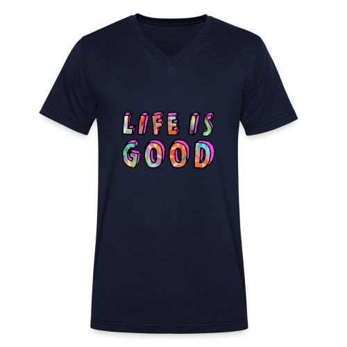 LifeIsGood - Men's Organic V-Neck T-Shirt by Stanley & Stella