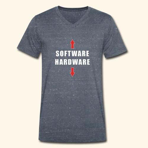 software hardware - Camiseta ecológica hombre con cuello de pico de Stanley & Stella