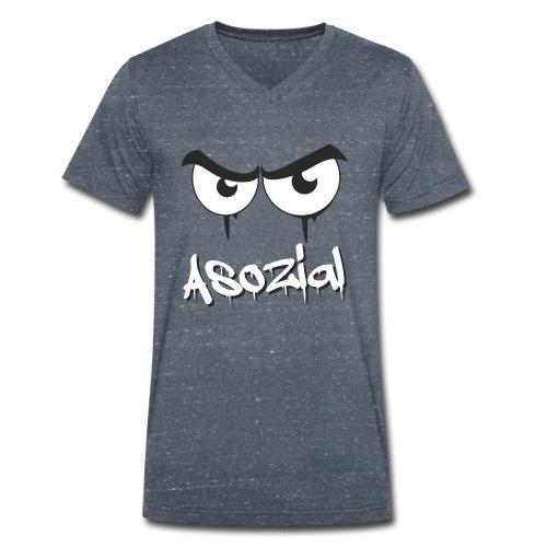 Asozial - Männer Bio-T-Shirt mit V-Ausschnitt von Stanley & Stella
