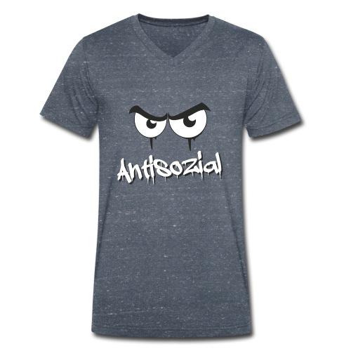 Antisozial - Männer Bio-T-Shirt mit V-Ausschnitt von Stanley & Stella