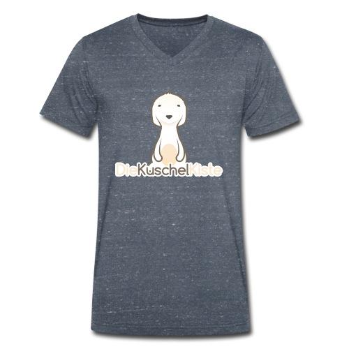 Die Kuschel Kiste: Unser Logo - Männer Bio-T-Shirt mit V-Ausschnitt von Stanley & Stella