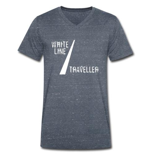 white line traveller - Mannen bio T-shirt met V-hals van Stanley & Stella