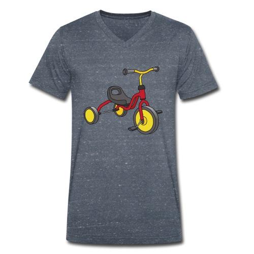 Rot-gelbes Kinderdreirad - Männer Bio-T-Shirt mit V-Ausschnitt von Stanley & Stella