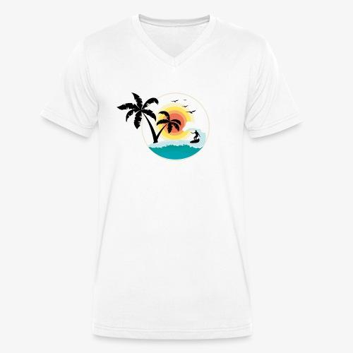 Surfing in paradise - Männer Bio-T-Shirt mit V-Ausschnitt von Stanley & Stella