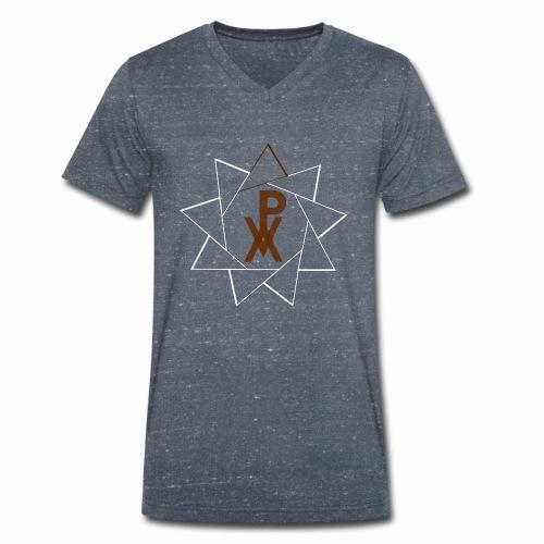 P.V.A. STELLA A 9 PUNTE MARRONE (MR) - T-shirt ecologica da uomo con scollo a V di Stanley & Stella