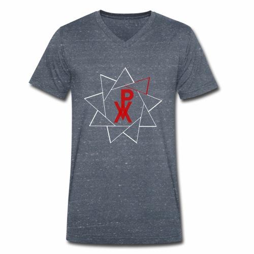 P.V.A. STELLA A 9 PUNTE ROSSO FUOCO (L) - T-shirt ecologica da uomo con scollo a V di Stanley & Stella