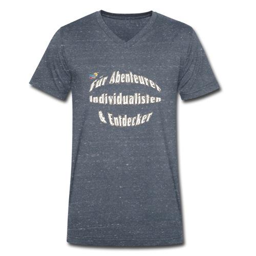 Abenteuerer Individualisten & Entdecker - Männer Bio-T-Shirt mit V-Ausschnitt von Stanley & Stella
