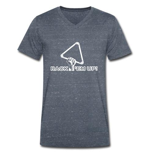 """Billard Shirt """"Rack 'em up! - Pool Billard - Männer Bio-T-Shirt mit V-Ausschnitt von Stanley & Stella"""