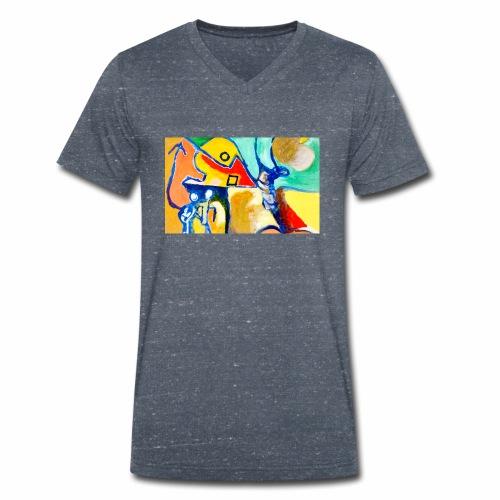 Magister Original - T-shirt ecologica da uomo con scollo a V di Stanley & Stella