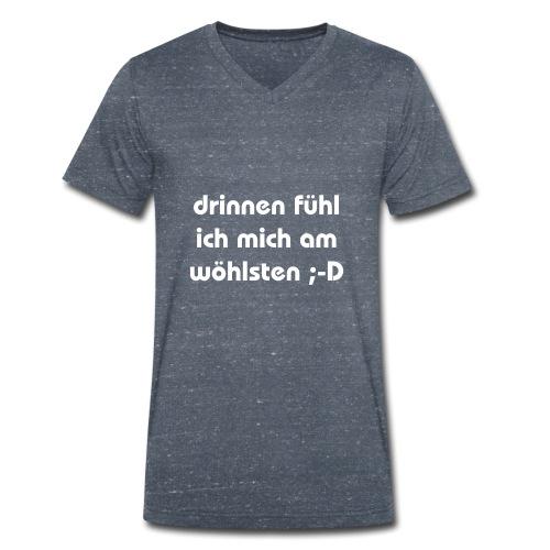 lustiger perverser text - Männer Bio-T-Shirt mit V-Ausschnitt von Stanley & Stella