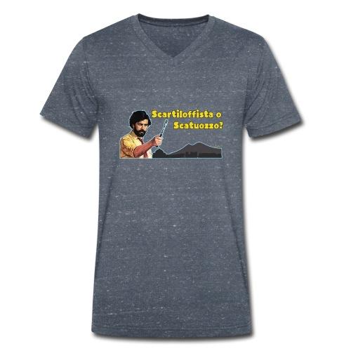 Scartiloffista o Scatuozzo? - T-shirt ecologica da uomo con scollo a V di Stanley & Stella